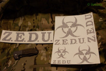 ZEDU Sticker Set, Black