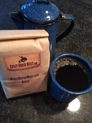 CrazyHorseWest.com Blend  Rich Mocha  & a Hint of Mint  Whole Bean 1lb.