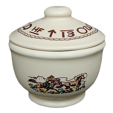 Rodeo Sugar Bowl with Lid 5 x 4-inch