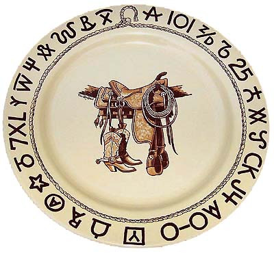 Boots & Saddle Dinner Plate 11-inch