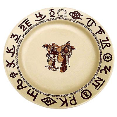 Boots & Saddle Lunch Plate 9.5-inch
