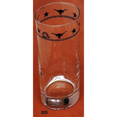 Western Water / Iced Tea Glasses Ropes, Stars and Longhorns 15.5 oz 4 pieces