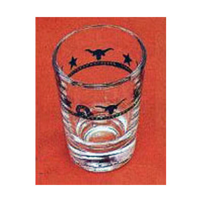 Ropes, Stars and Longhorns Western Jigger Shot Glasses - 2 oz. (Set of 4)