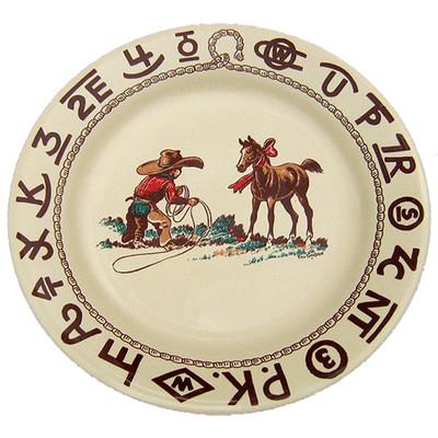 Western Dinnerware Christmas Cowboy Lunch Plate 9.5-inch