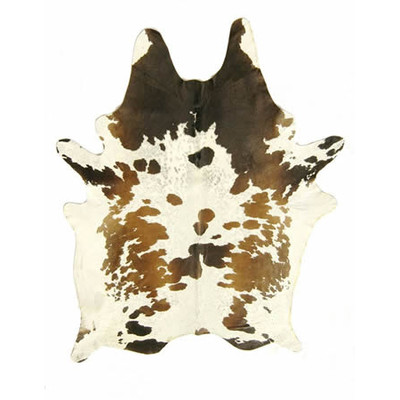 Natural Cowhide Rug Black, Brown, and White Special