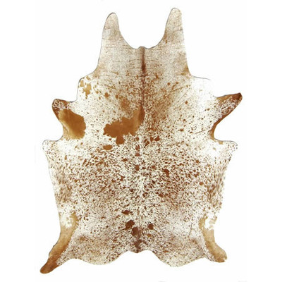 Natural Cowhide Rug - Brown and White Salt &Pepper