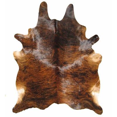Natural Cowhide Rug - Dark Brindle