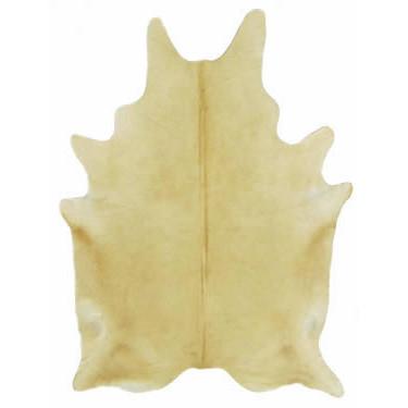 Natural Cowhide Rug - Solid Beige