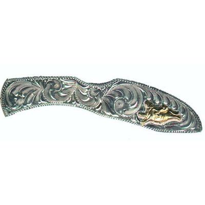 Western Cowboy Knife Silver Bull Rider