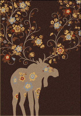 Moose Blossom - Chocolate - 5'x8'