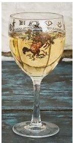 Western Goblet Glasses Bronco 15.5 oz. (Set of 4)