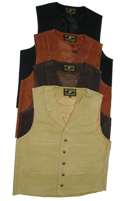 Wyoming Traders Buffalo Leather Vest - Men's