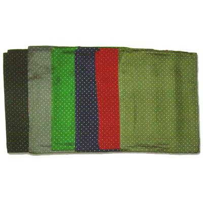 Wild Rag Silk Scarves Cowboy Polka Dot 34.5 inches