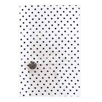 Wild Rag Charmeuse Dots 1/8 inch Black Dot On White
