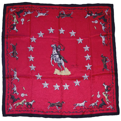 Wild Rag Silk Scarf Limited Edition Mustang Red