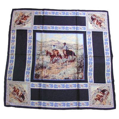 Wild Rag Silk Scarf Limited Edition Compadres Black