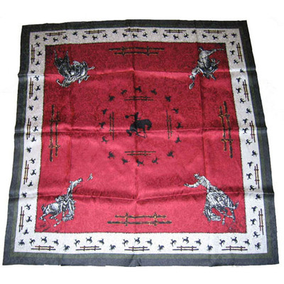 Wild Rag Silk Scarf Limited Edition Fence Burgundy