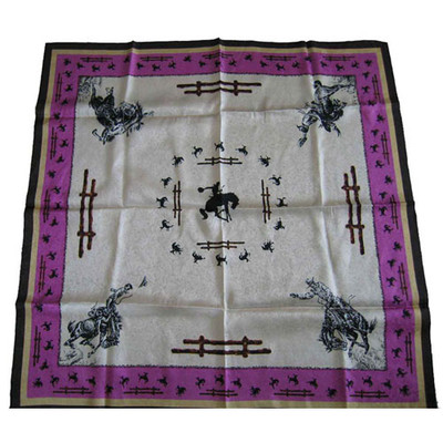 Wild Rag Silk Scarf Limited Edition Fence Ivory