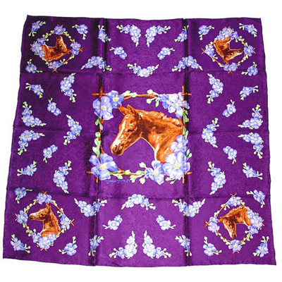 Wild Rag Silk Scarf Limited Edition Filly Midnight