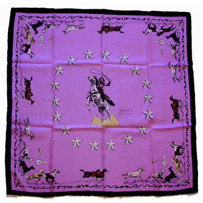 Wild Rag Silk Scarf Limited Edition Mustang Pink
