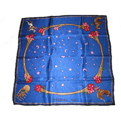 Wild Rag Silk Scarf Limited Edition Rodeo Girls Blue