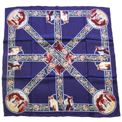 Wild Rag Silk Scarf Limited Edition Sweetie Pie Navy