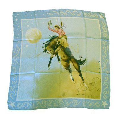 Wild Rag Silk Scarf Limited Edition  Blake Blue