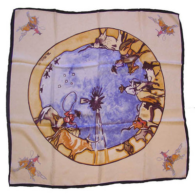 Wild Rag Silk Scarf Limited Edition Windmill Ivory