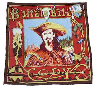 Wild Rag Silk Scarf Limited Edition Buffalo Bill