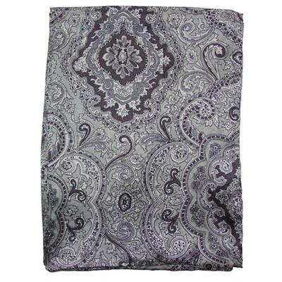 Wild Rag Silk Scarf Paisley Silver/Black