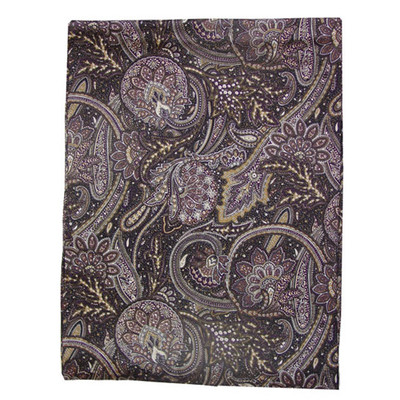 Wild Rag Silk Scarf Paisley Navy/Brown