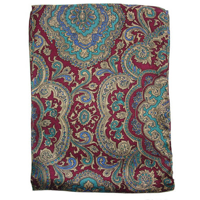 Wild Rag Silk Scarf Paisley Red/Gold