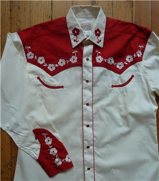 """Loving You"" 2-Tone Floral Embroidery Western Shirt"