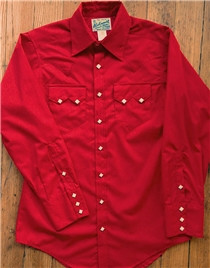 Red Sawtooth Western Shirt