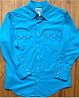 Turquoise Sawtooth Western Shirt