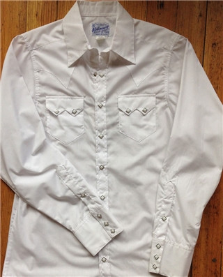 White Sawtooth Western Shirt