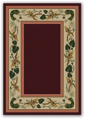 Three Sisters Rug - Garnet (Various Sizes)
