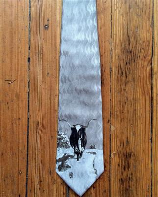 Spats Longhorn Silk Tie