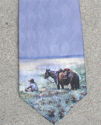 Sagebrush Picnic Silk Tie
