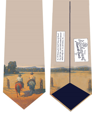 """Working the North Pasture"" Silk Tie"