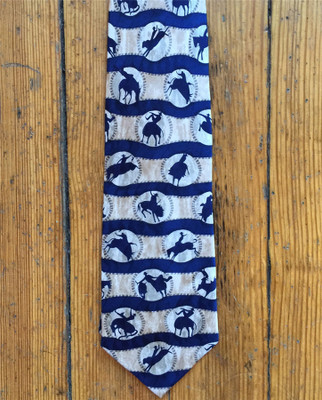 Ropin' Rodeo Silk Tie - Navy