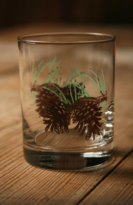 Wilderness Rock Glasses - Pinecone - 14 oz. (Set of 4)