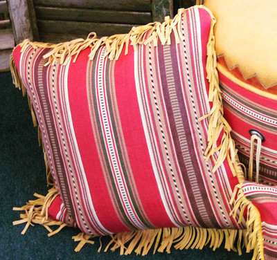 Barn Red Serape Pillow