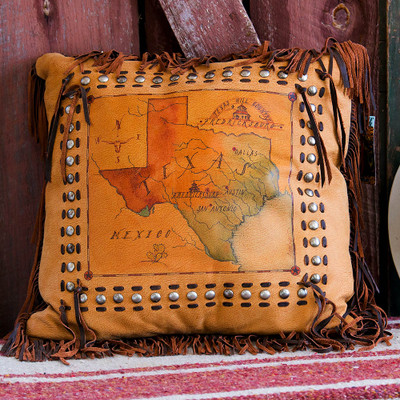 Texas Map Pillow