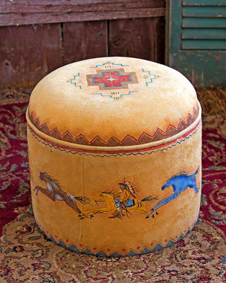 Cayuse Hassock In Straw