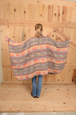 Indian Chief Blanketstitch Cape