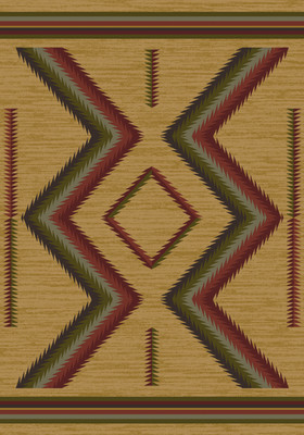 American Dakota Rug - Hour Glass - Fall
