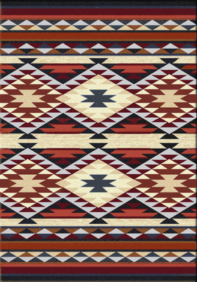 American Dakota Rug - Diamond Rio - Rust