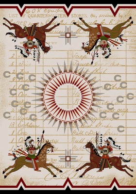 American Dakota Rug - Battle Records - Multi