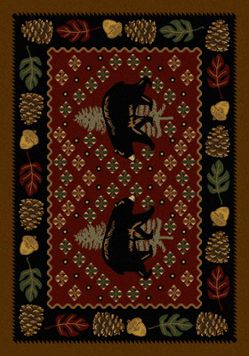 Patchwork Bear - Red